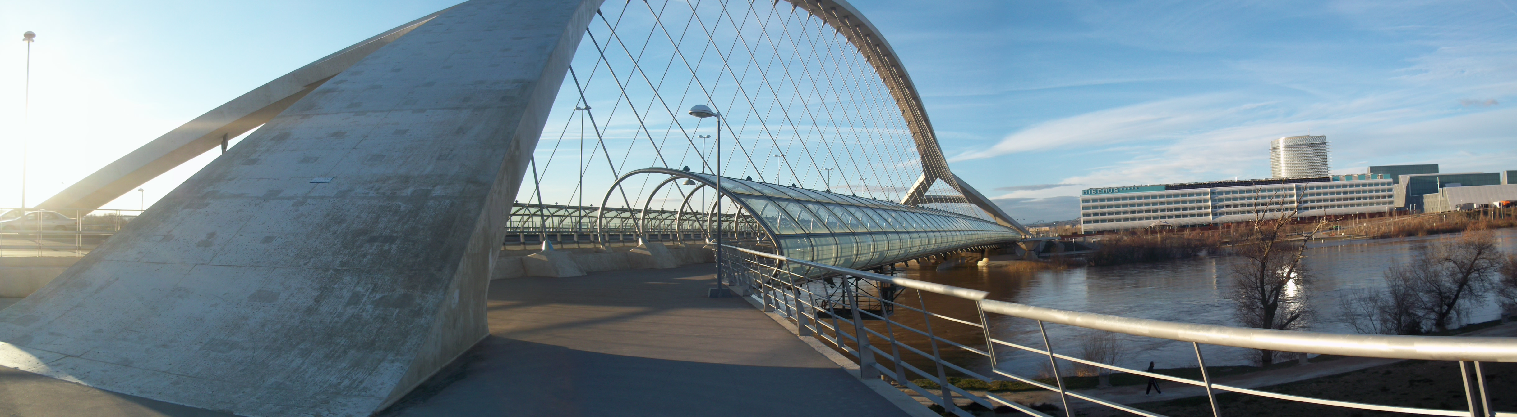 """""""The Bridge of the Third Millennium"""", constructed for the 2008 World Expo."""