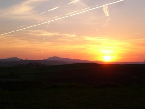 A beautiful sunset along the Camino.