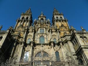 The Catedral de Santiago de Compostela, in Galicia.