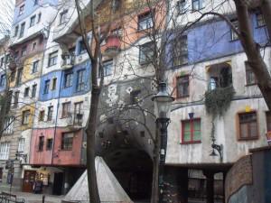 The Hundertwasserhaus, an apartment complex.