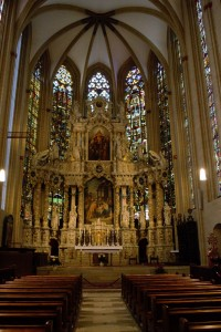 Inside the St Mary's Cathedral