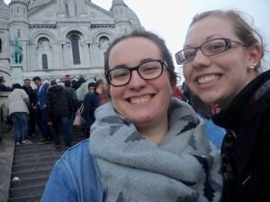 Reenacting Amelie at the Sacre Coeur