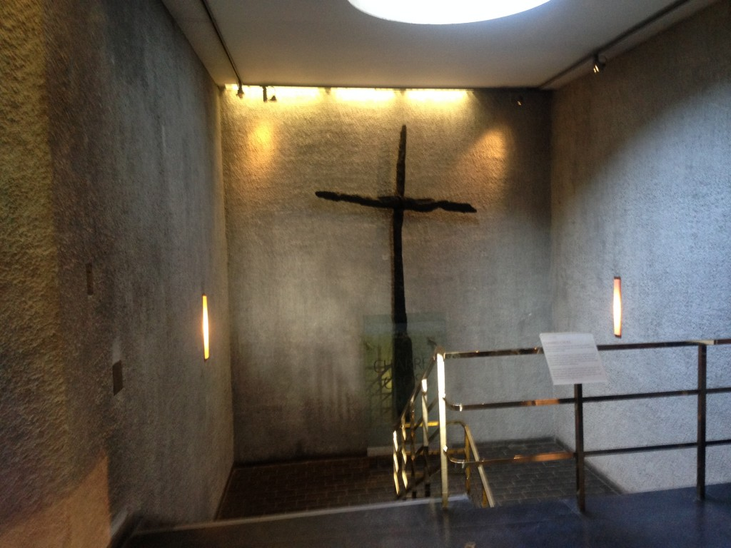 Old cross left after the Nazi bombing