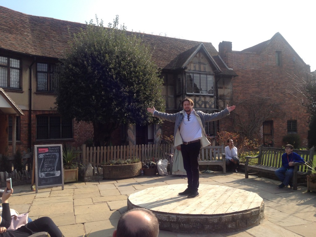 Live performances outside Shakespeare's childhood home