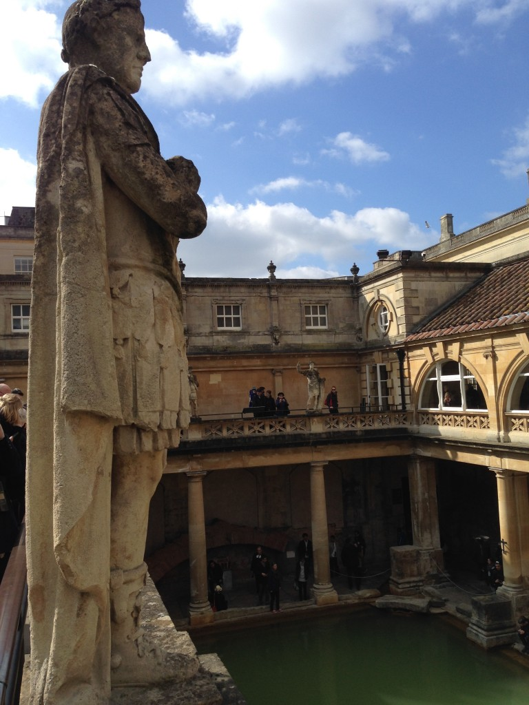 The Roman Baths (statues of emperors around the top viewing gallery)