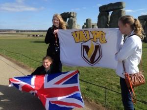 Stonehenge - (left to right) Emily P., Jessica, Sarah