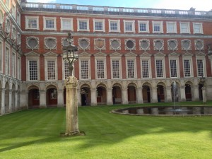 a courtyard - Hampton Court Palace