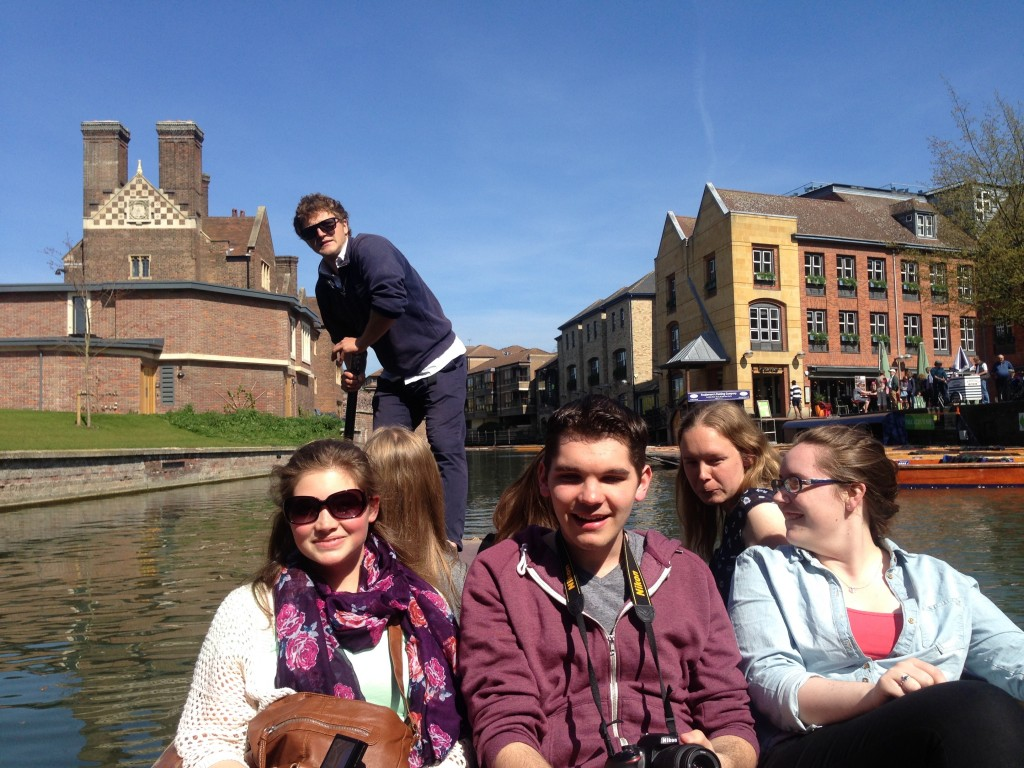Cambridge, England  Left to Right:  (Emily P., Brendan, Sarah, Stephanie)