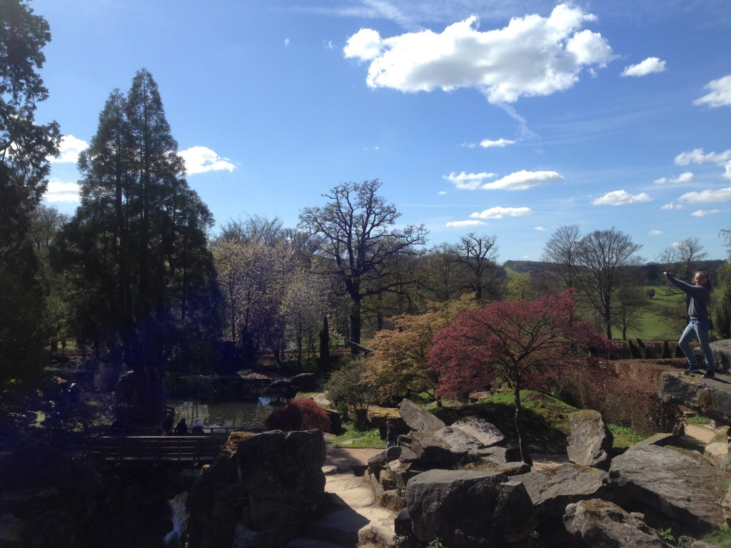Chatsworth House Gardens with Sarah.