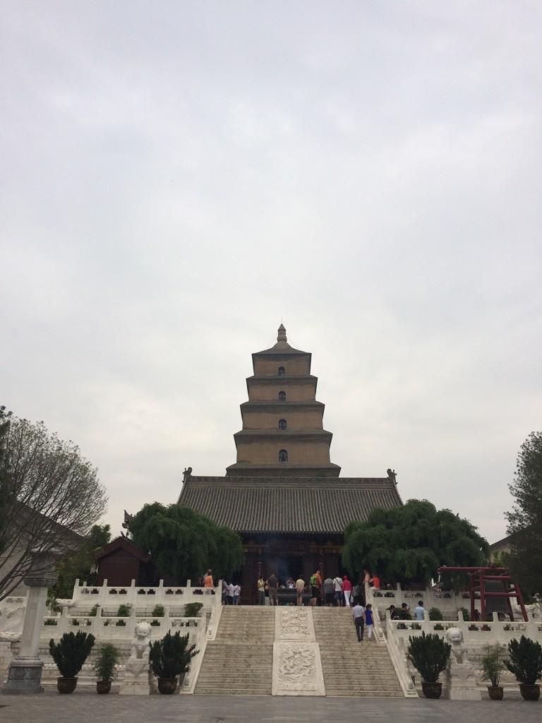 Big Wild Goose Pagoda in Xian.