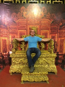 Me sitting on a royal chair