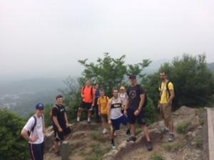 The group hiking near Zhejiang University