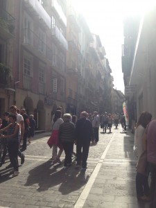 The bulls run on this street during the Fesitval de San Fermin