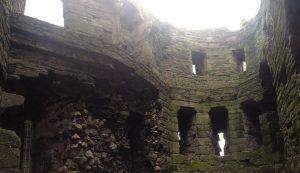 Beaumaris interior ruins