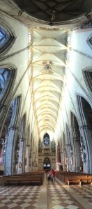The openness of the Ulmer Münster's nave.