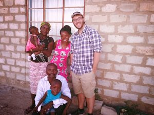 Me and my host family. From left to right: baby August, Florencia, my host father David, Pini, Maggie, and Me