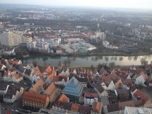The Danube (Donau), viewed from the top of the Ulmer Münster