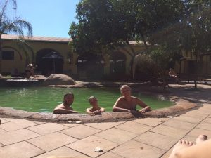 Hanging out at the pool discussing life