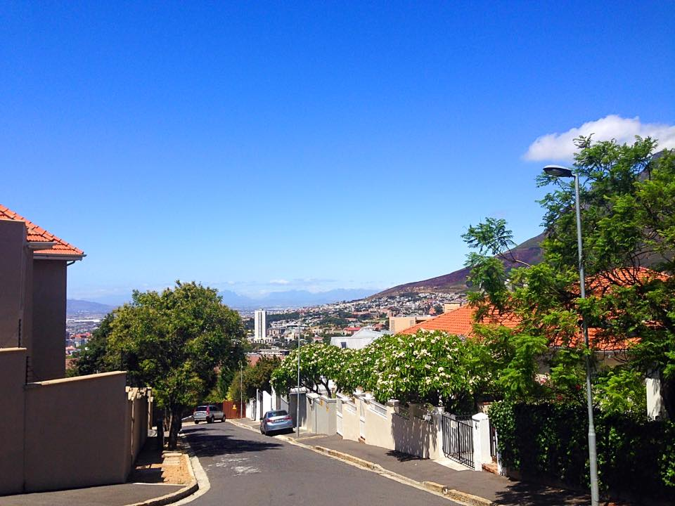 Cape Town view from a walk to the beach