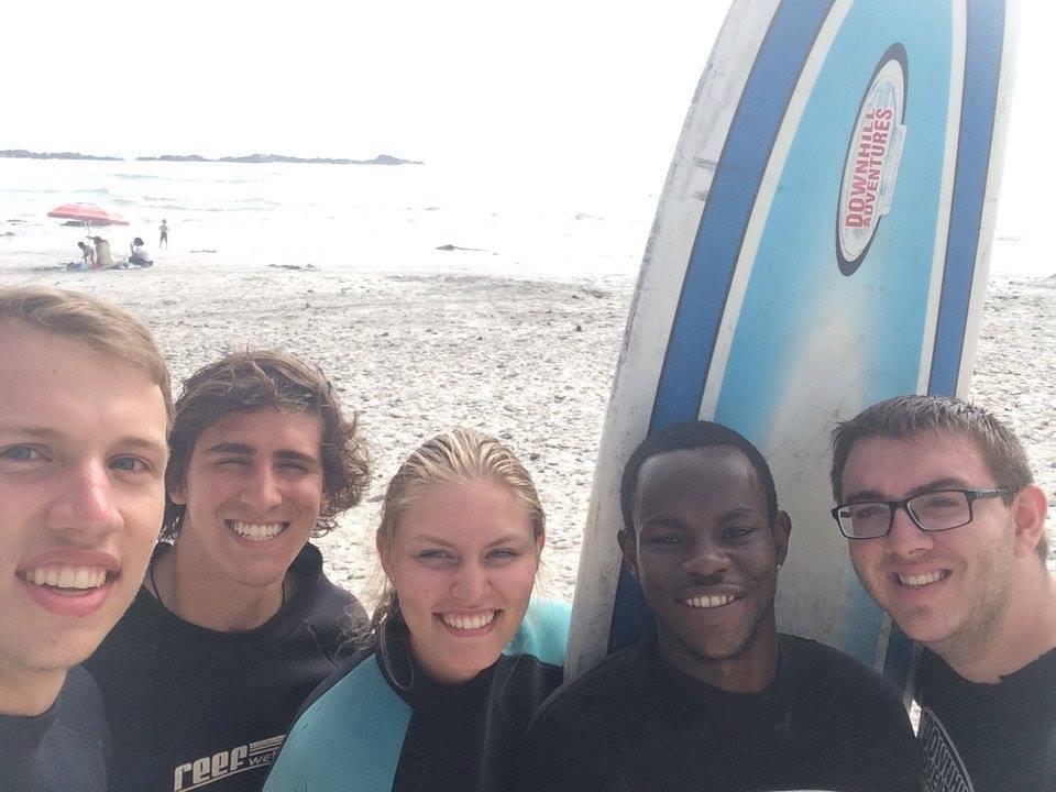 Pre-surfing Selfie