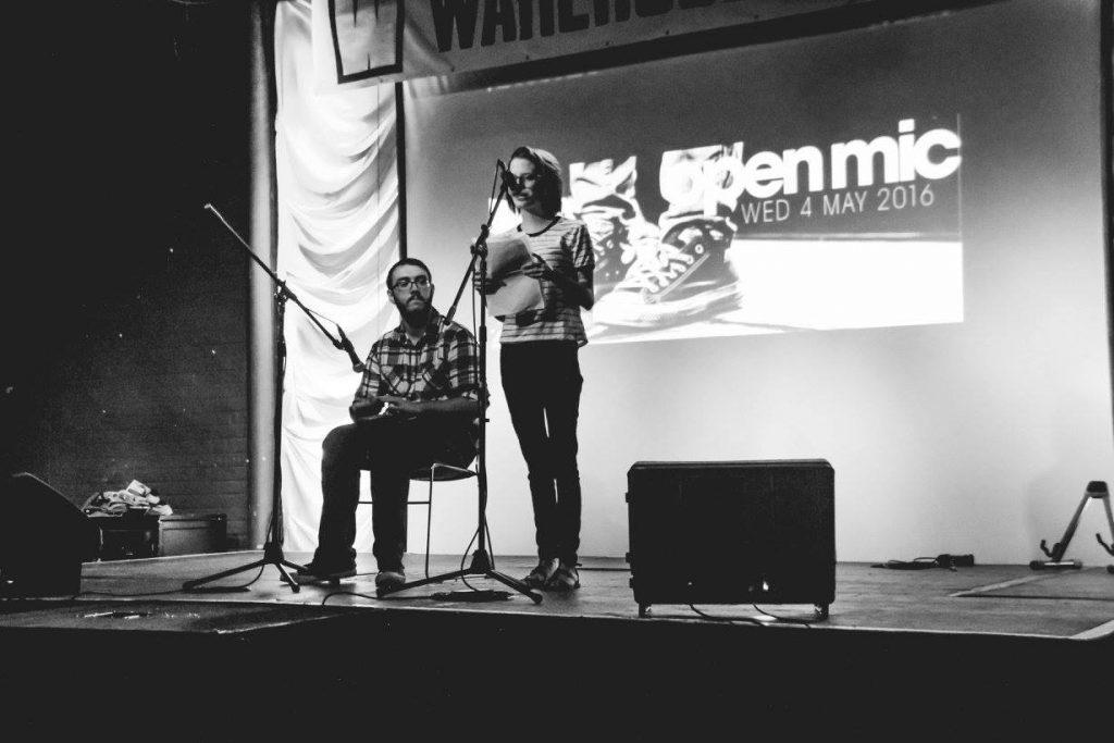 Accompanying my friend Kayla in her spoken word piece