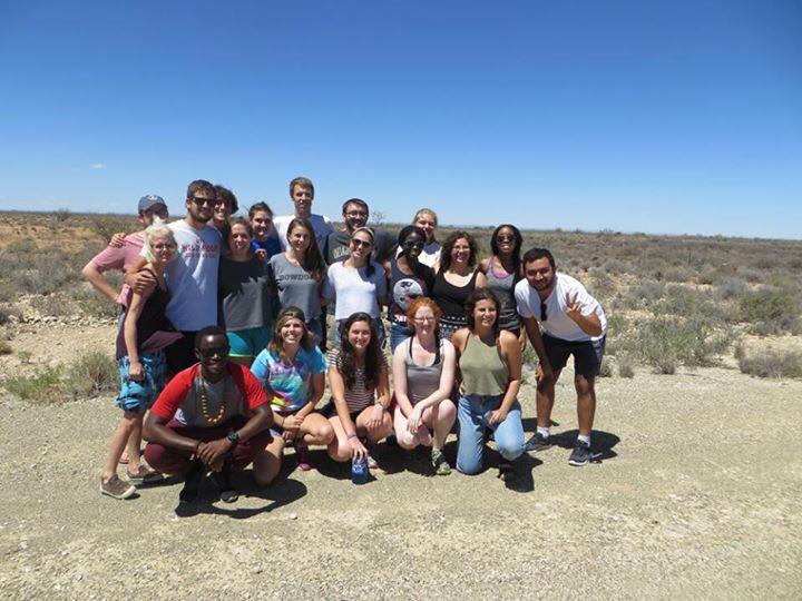 Group photo in the desert