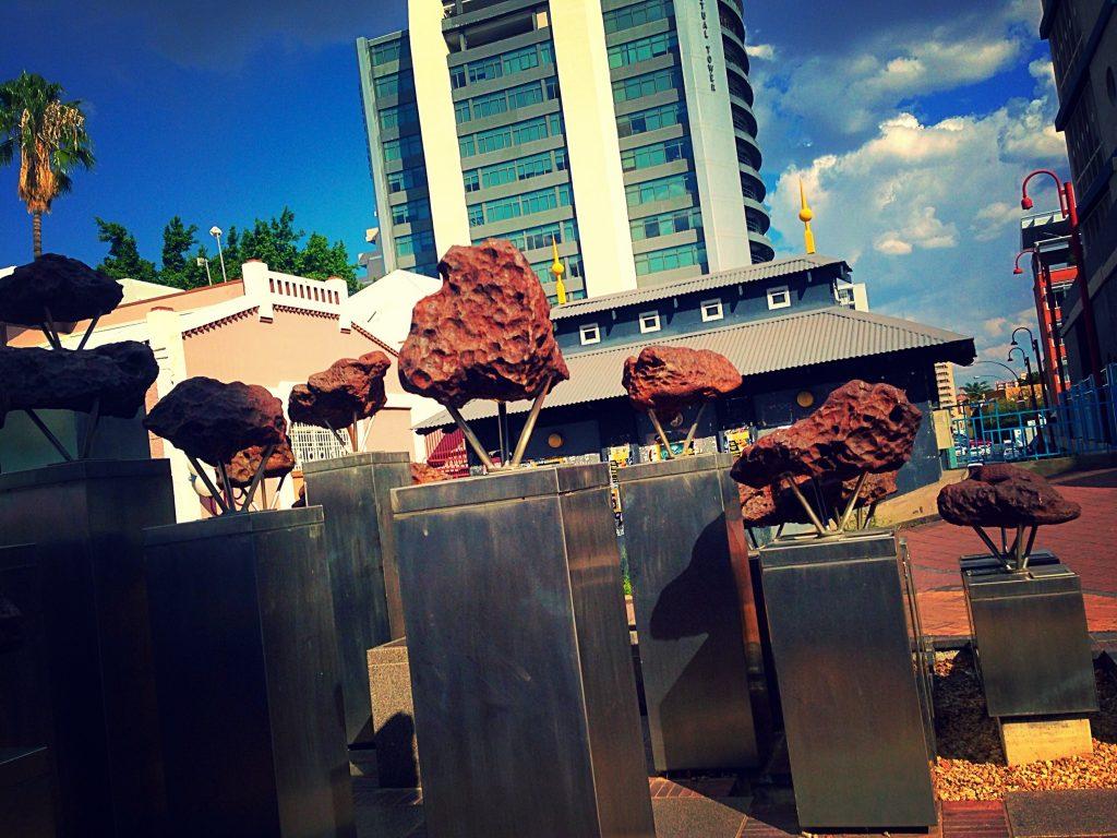 Meteorites found in Namibia that are displayed in Windhoek