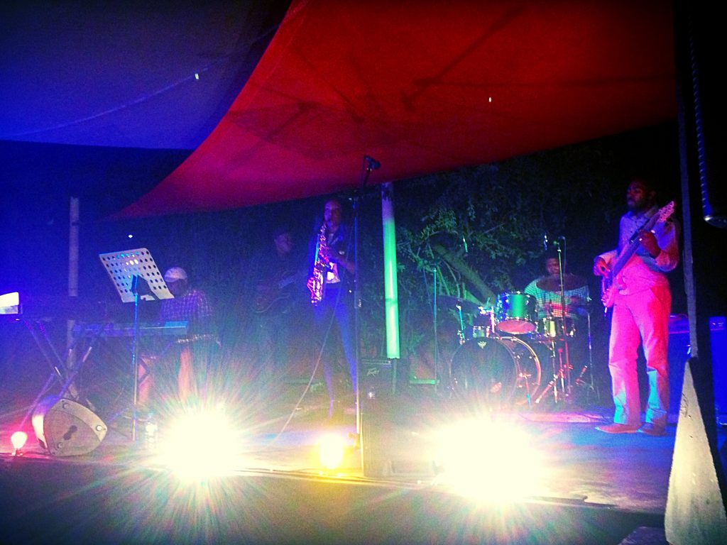 Suzy Eises performing at the Franco-Namibian Cultural Center for International Jazz Day