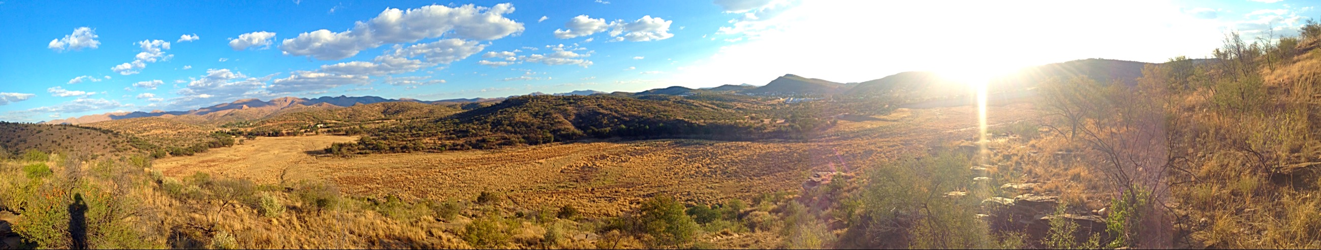 The hills around the Avis Dam in Windhoek from one of my last days in Namibia