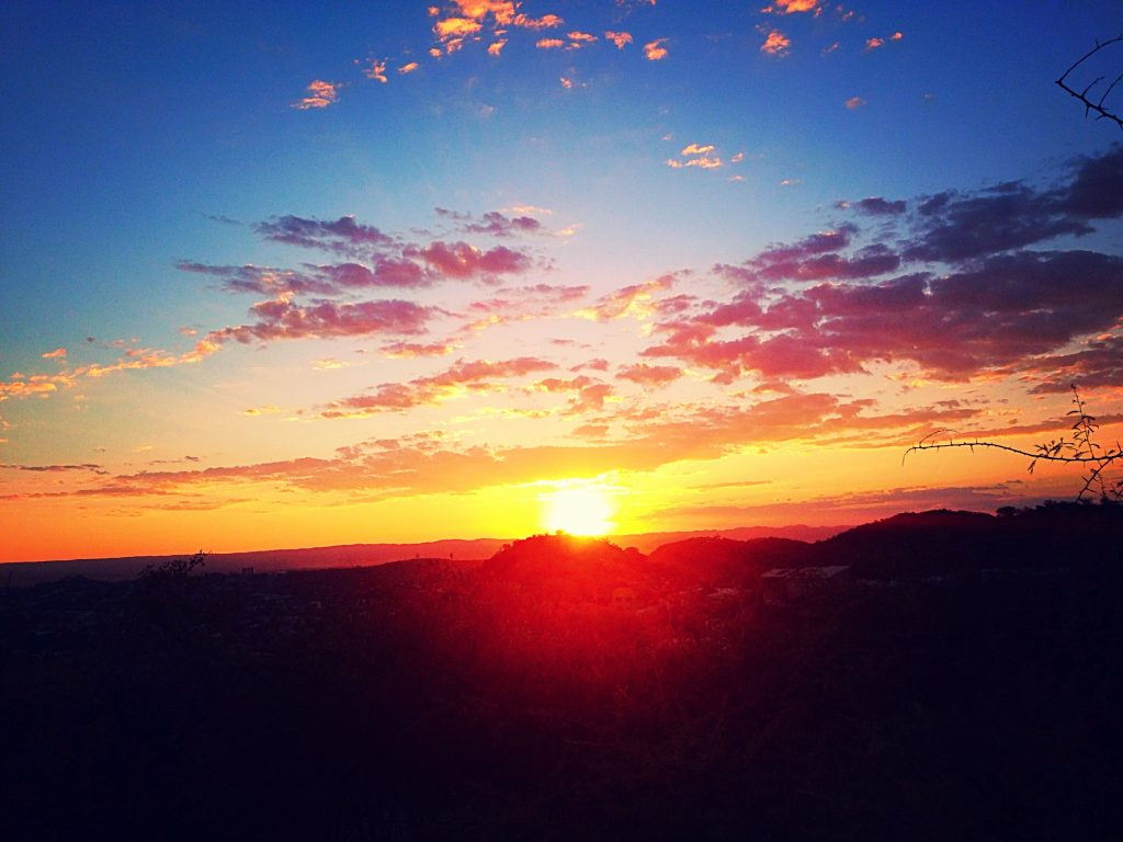 One of my last sunsets in Namibia from the top of a mountain I forged a path up