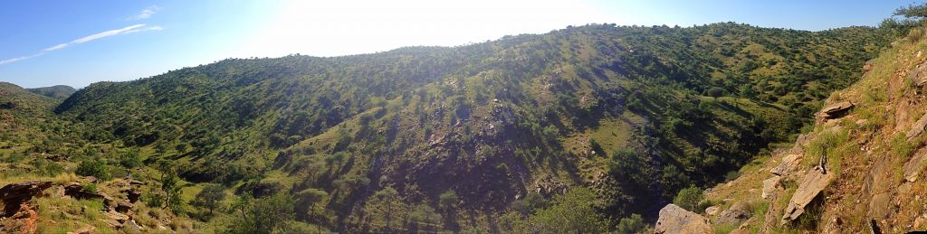 The hills surrounding Windhoek at Daan Viljoen Game Paek