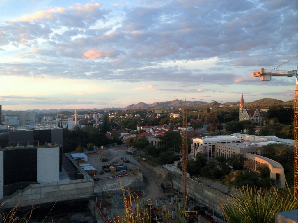 Windhoek from the top of the Hilton