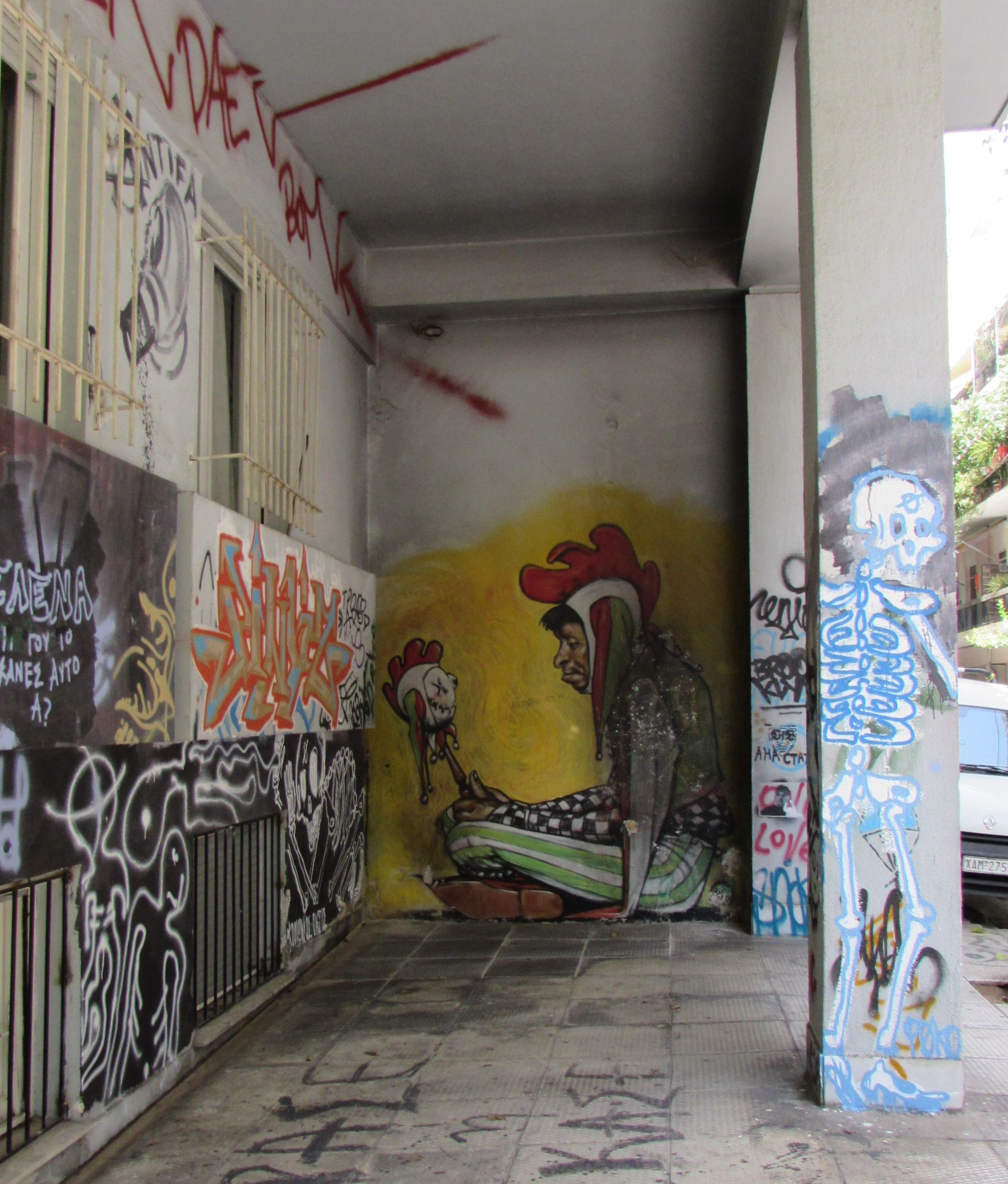 Graffiti - man in chicken suit